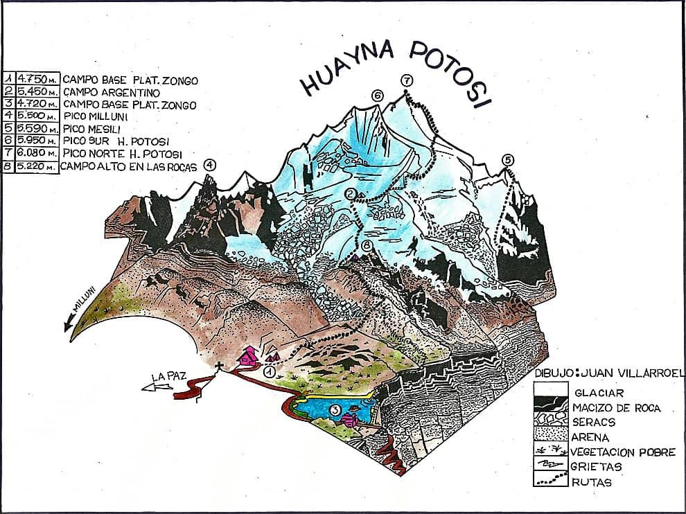 Huayna Potosi Trails